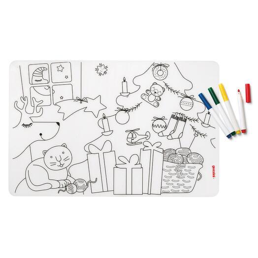 Набор из коврика-раскраски и 4 маркеров bimbi, Рождество  Guzzini 22609552
