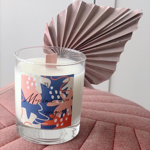 Ароматическая свеча Морская соль и орхидея