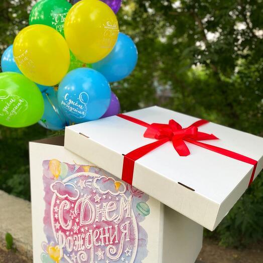 Коробка с шарами «Большой сюрприз»