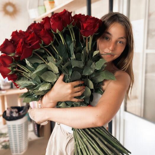 101 Роза Эквадор  🌹