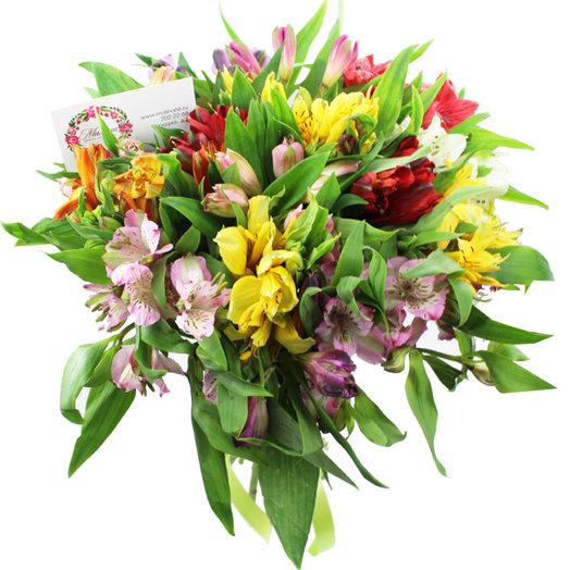 Букет 15 альстромерий: букеты цветов на заказ Flowwow