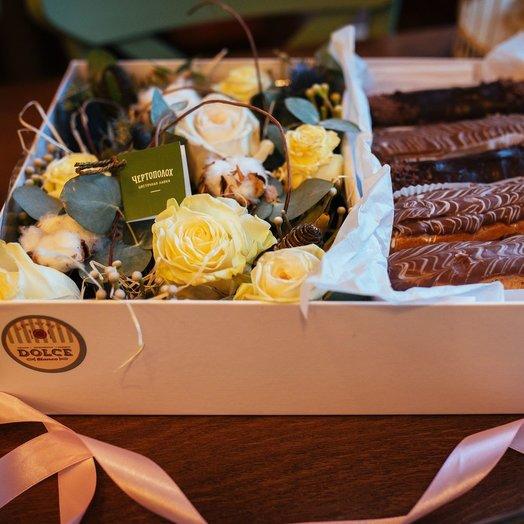 Шоколадный стиль: букеты цветов на заказ Flowwow