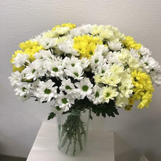 Букет 19 хризантем!!!: букеты цветов на заказ Flowwow