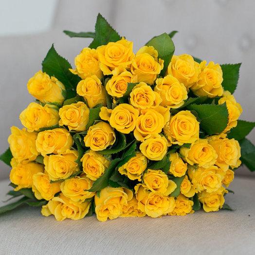 Букет из 39 желтых роз 60 см: букеты цветов на заказ Flowwow