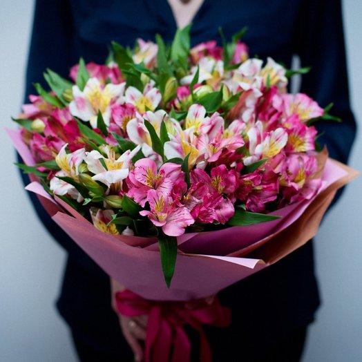 Моно Букет из альстромерий: букеты цветов на заказ Flowwow