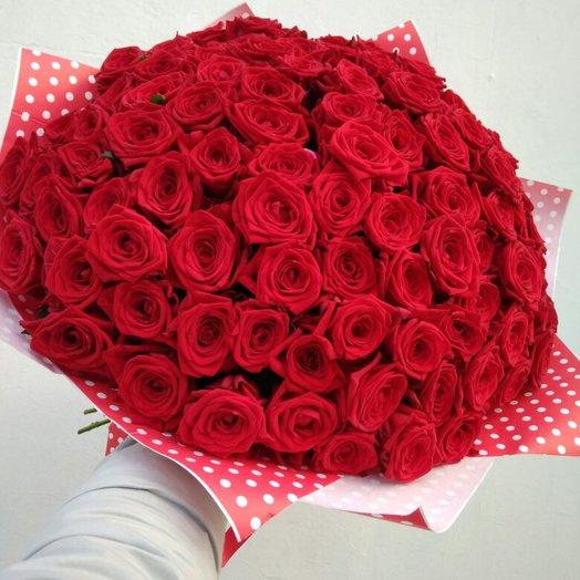 101 роз: букеты цветов на заказ Flowwow