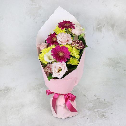 Букет из хризантем и гвоздик: букеты цветов на заказ Flowwow
