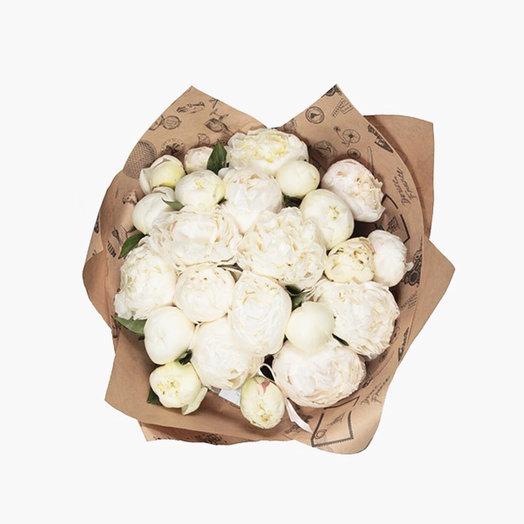 Жемчужная коллекция ( белые Пионы): букеты цветов на заказ Flowwow