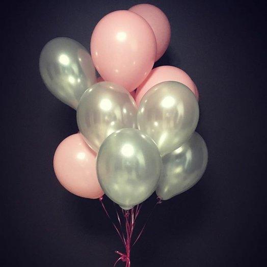 Воздушные шары серебро и розовый цвет: букеты цветов на заказ Flowwow