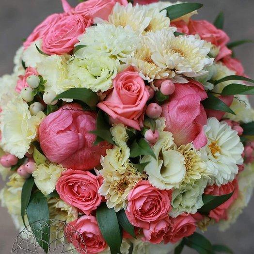 Свадебный букет Рассвет: букеты цветов на заказ Flowwow