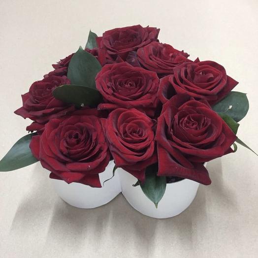 Букет роз «Сердце»: букеты цветов на заказ Flowwow