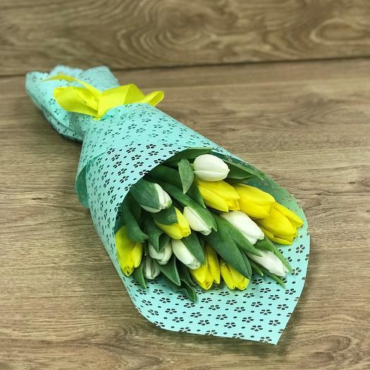 Букет тюльпанов N353: букеты цветов на заказ Flowwow