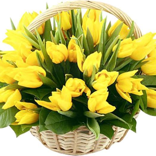 """Корзина """"Солнечная"""": букеты цветов на заказ Flowwow"""