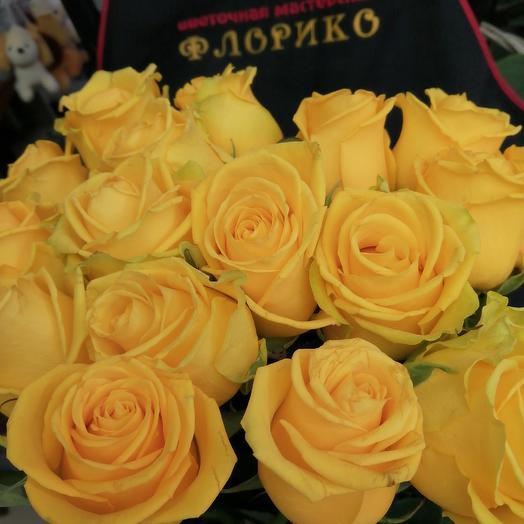 Роза желтая: букеты цветов на заказ Flowwow