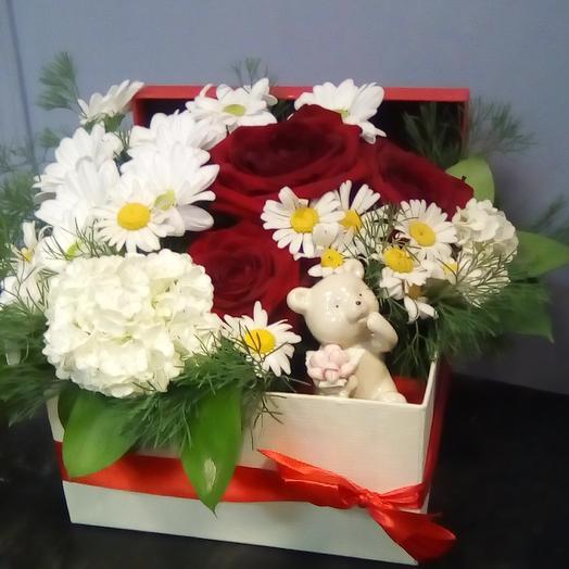 Поцелуй от мишки: букеты цветов на заказ Flowwow