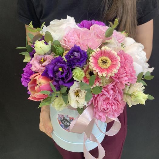 Летняя коробочка: букеты цветов на заказ Flowwow