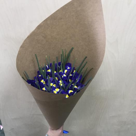 Букет из ирисов: букеты цветов на заказ Flowwow