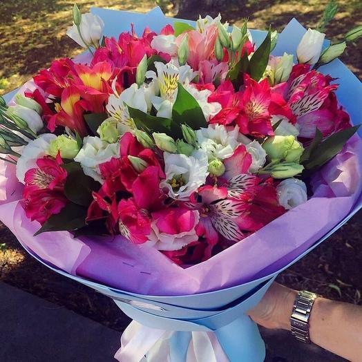 Радужный букет из стойких цветов: букеты цветов на заказ Flowwow