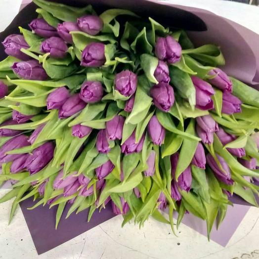 Фиолетовые ночи: букеты цветов на заказ Flowwow