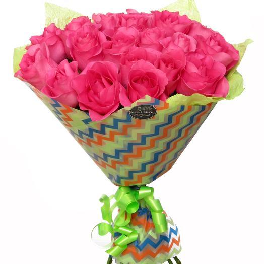 25 роз в матовой пленке: букеты цветов на заказ Flowwow