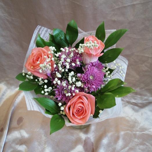 Мини букетик N3: букеты цветов на заказ Flowwow