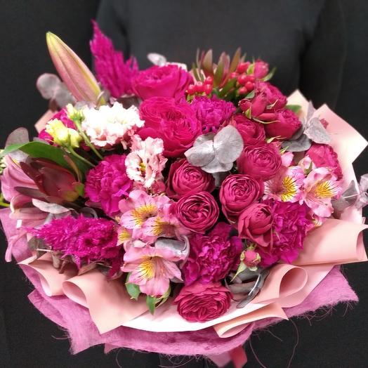 Букет - Малиновый Блюз: букеты цветов на заказ Flowwow