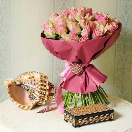 """Букет из 51 розы """"Белла Роза"""": букеты цветов на заказ Flowwow"""