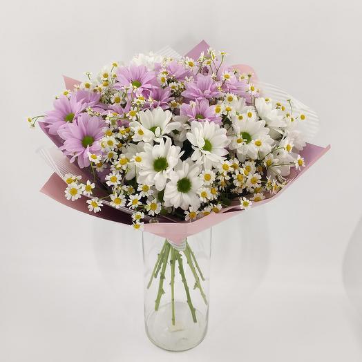 Букет из ромашек: букеты цветов на заказ Flowwow