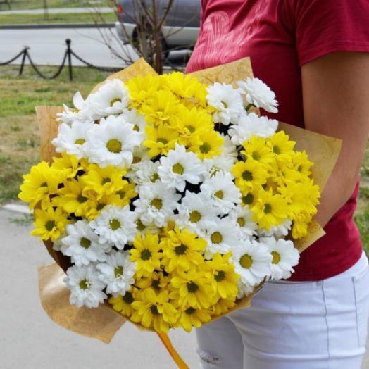 Букет их хризантем 2