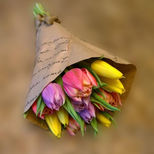 Букетик из 11 тюльпанов: букеты цветов на заказ Flowwow