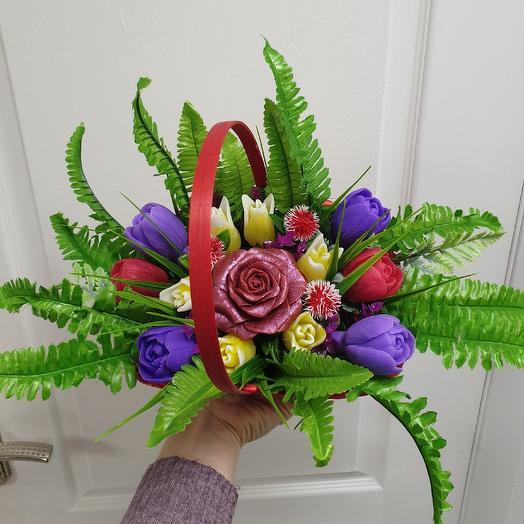 Цветы из мыла: букеты цветов на заказ Flowwow