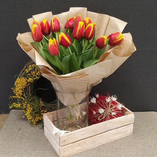 Тюльпан красно-желтый