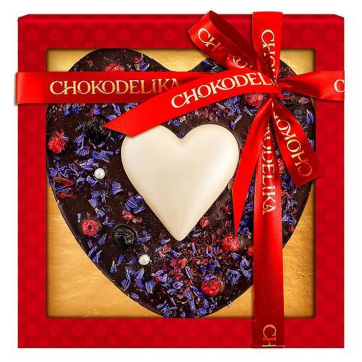Шоколадное изделие Сапфировое сердце