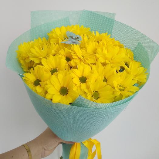 Солнышко из хризантем
