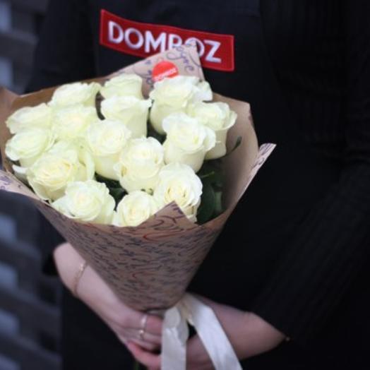 Букет из 15 белых роз Эквадор