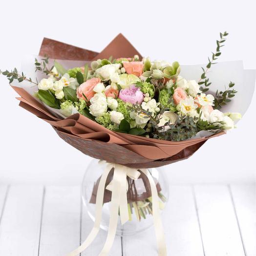 Букет цветов Белый шоколад