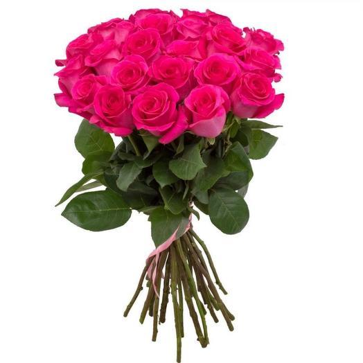 Букет из 21 розы Малиновый закат