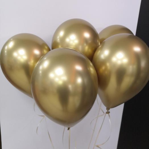 5 золотистый шаров