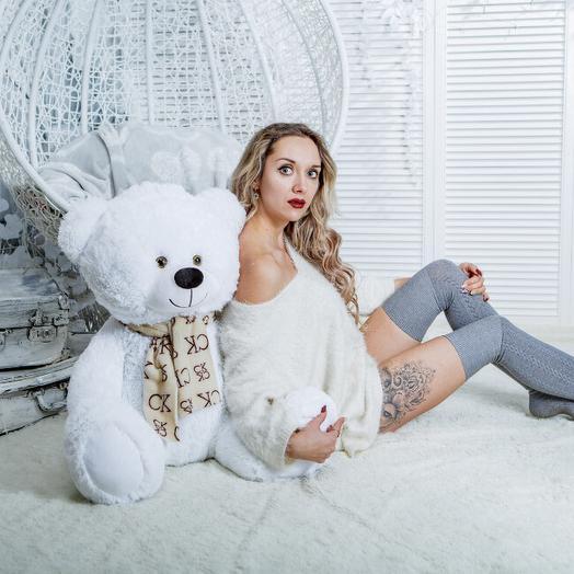 Мишка 115 см «Донжон» белый
