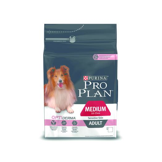 Pro Plan Adult Medium Sensitive Skin сухой корм с лососем и рисом для взрослых собак средних пород с чувствительной кожей 3 кг