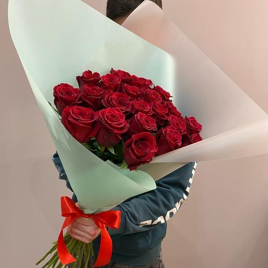 Красные розы 21 шт