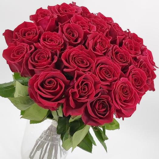Букет красных роз 25