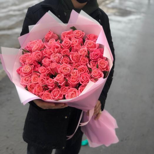51 нежно розовая Роза сорт аква