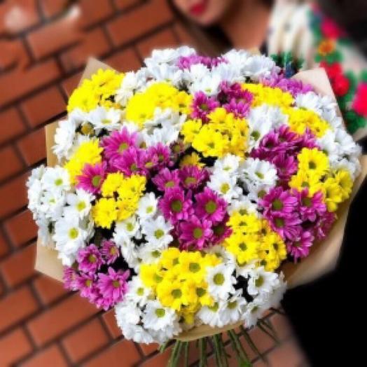 A bouquet of spray chrysanthemum mix