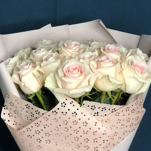 Букет 21 розовая роза 60 см Розовое облако