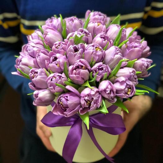 Коробочка Тюльпаны фиолетовые