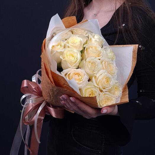 15 белых роз 💫