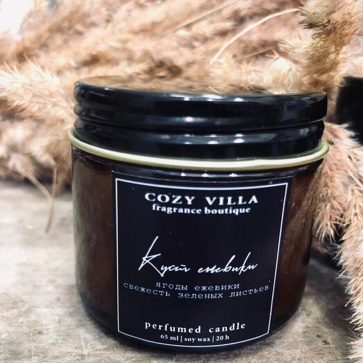 Свечи ручной работы с ароматом «Ежевики и зеленых листьев»
