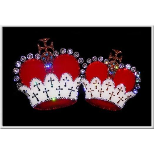 "Картина с кристаллами Swarovski ""С венчанием!"""