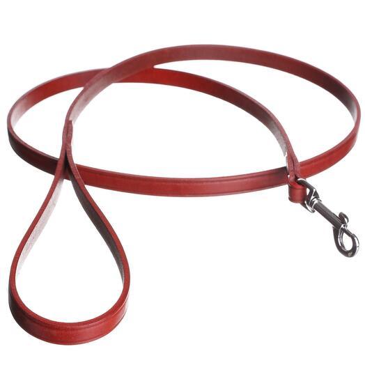Поводок тисненный классический из натуральной кожи DOG AND GO красный S-M 130см 14мм
